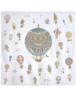 Hot Air Balloon Organic Cotton Swaddle/Muslin