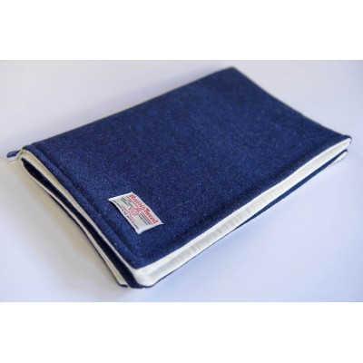 Navy blue Harris Tweed pram blanket