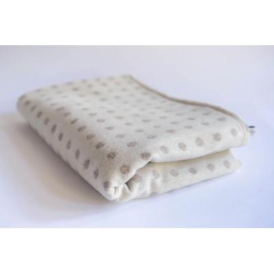 Abraham Moon cream large blanket