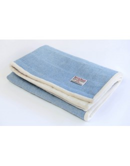 Baby blue Harris Tweed large quilt