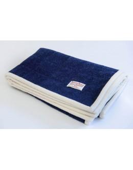 Navy blue Harris Tweed pram quilt