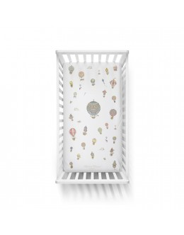 Hot Air Balloon fitted cot-bed sheet